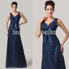 Gorgeous  strapless Lace Mother of the Bride/Groom dresses Floor Length Long evening party dress CL6117