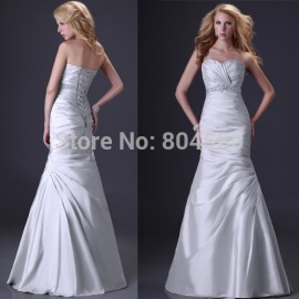 Gorgeous Sexy Strapless Beading Formal evening red carpet gowns Mermaid Prom Dress Long party Dresses CL2289
