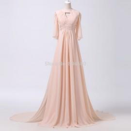 Grace Karin A Line Half Regular Sleeve Dance Ball Prom dress Long Party dresses Pink Formal Evening Gown CL6271