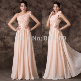 Grace Karin Lace Up Back One Shoulder Women long dress Chiffon Prom Party Gown Formal Evening dresses   Fashion CL6194