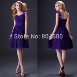 Grace Karin Stock One shoulder Knee-Length Women Short Prom Dresses Ball Party Gown formal Evening Dress  CL3431
