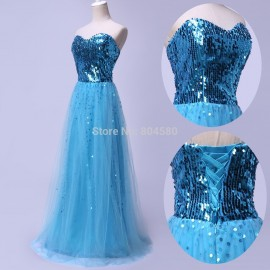 Grace Karin Stock Strapless Sequins Women Casual Club Formal Party Gown Long Ball Prom Evening Dress   CL3459