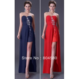 Grace Karin Stock Strapless Slit Wedding Party Gown Prom Ball Evening Dress 8 Size  via  CL3443