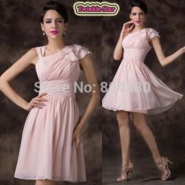 Grace Karin Women's Ladies Chiffon Sleeveless Pink Elegant Evening Party dresses Short Prom Gown Sexy Summer Dress  CL6221