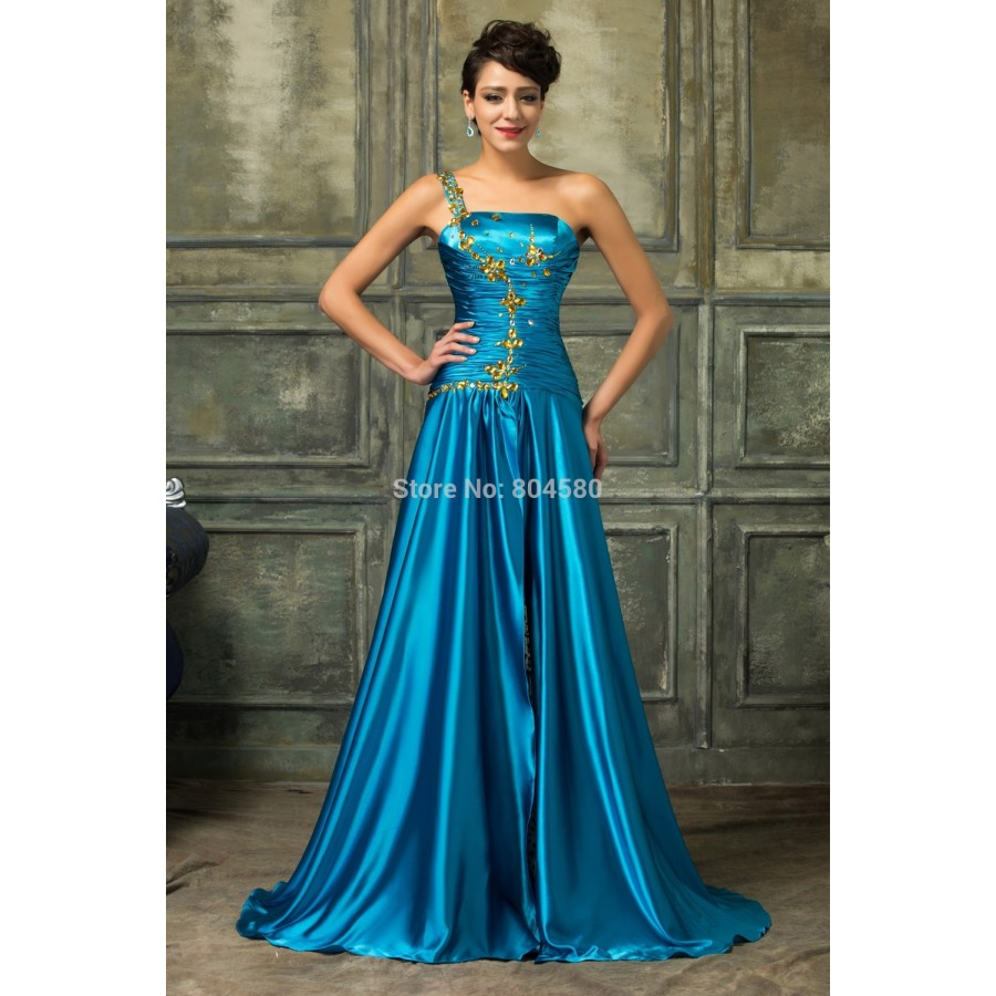 Karin Silk-like Elegant Party Prom Gown High-Low Summer Evening ...