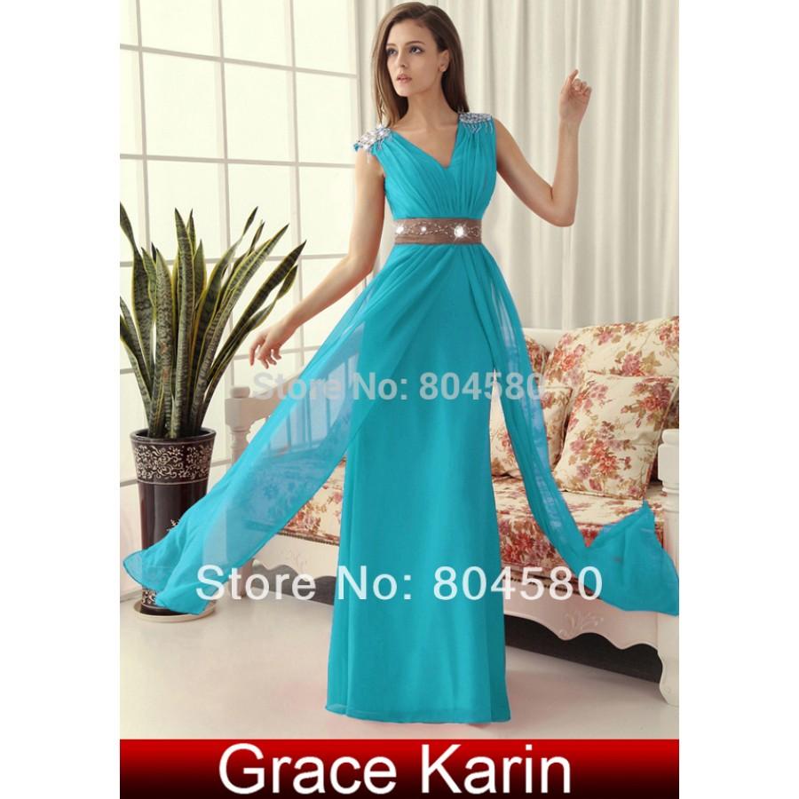 Quality Grace Karin Stock Korean Chiffon Floor Length Formal Party ...