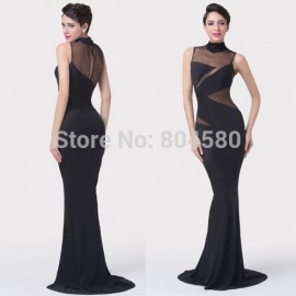 Hot Design Grace Karin High Neck Sheath Mermaid prom dresses Women Long Evening Party dress Sexy Bodycon Bandage Gown CL6274