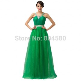 Hot Sale Women  Green Long Backless Evening dress Floor Length Summer Prom dresses Formal special dinner gown CL6143