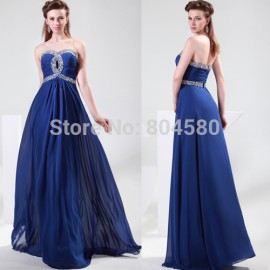 Hot Selling A-line sweetheart off-shoulder Chiffon beads cheap Formal Prom party gown stock long evening dress CL4413