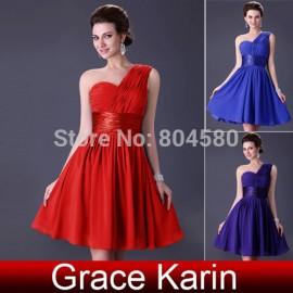 Latest Design Grace Karin One Shoulder Chiffon Prom Short dress Party Evening Dresses  CL4106