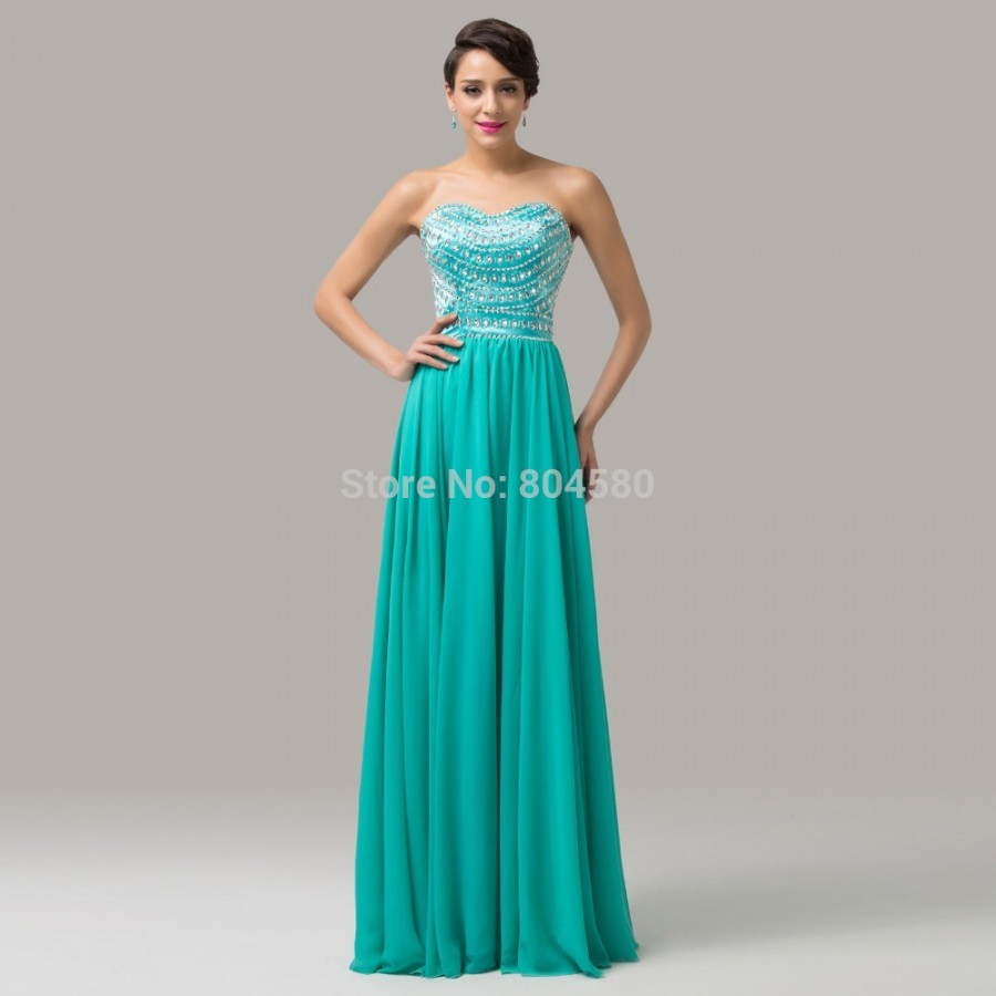 Latest Grace Karin Strapless Blue Formal Occasion Evening dress ...