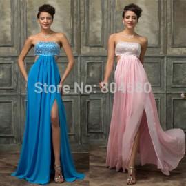 Luxury Grace Karin Stock Beading vestidos para festa Formal evening dresses Backless Red Carpet Dress Long Prom Party Gown 3437