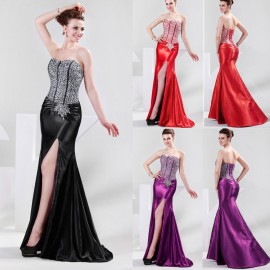 Luxury Summer Style Beaded Formal Gown Mother Evening Dress Long Bandage Celebrity dresses Slim Mermaid Prom Gowns Black 4421