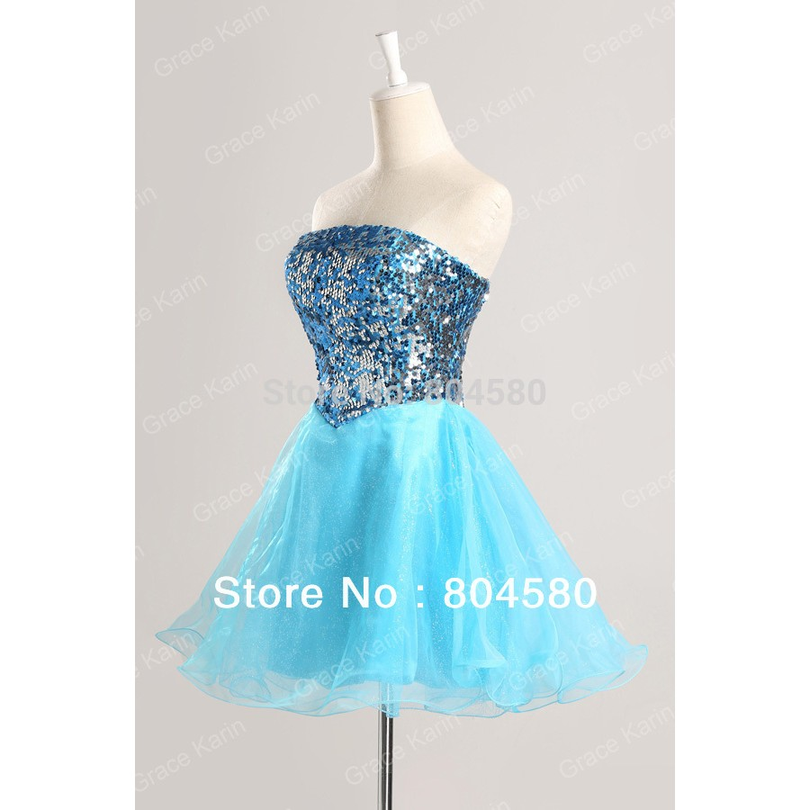 Ladies\' Knee-Length Short Ball Gown Dress Women Cocktail Party ...