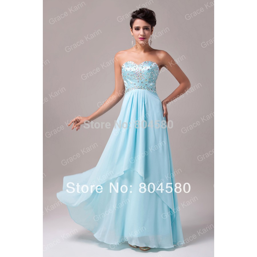 Fashion Strapless off the shoulder beads Long Design Chiffon ...
