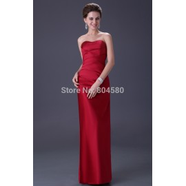 Fashion Women Full Length Long Red Evening Dress Formal prom party Gown sexy Celebrity Bandage dresses  CL3142