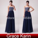 Stock Floor-Length Sleeveless Chiffon Celebrity dresses Women Evening Party dress Autumn Long Prom Gown Banquet CL6050