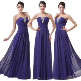 New Brand Floor Length Purple Chiffon Big Size Evening Dresses Long Mother of the Bride dress Cheap Prom Banquet Party Gown 6207