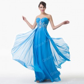 New Grace Karin Floor Length Chiffon Evening Prom Dress Long Celebrity Party Dresses Formal Ball Homecoming Dinner Gowns 6183