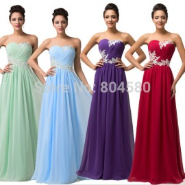 Plus Size Floor Length Long Prom dresses 2015 Party Evening Dress vestido de festa Corset Chiffon Gowns Women Sleeveless CL6107