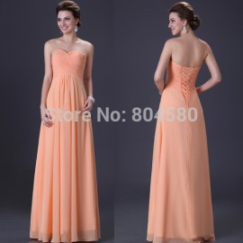 Popular Comely A-line Sweetheart Evening Dress Party Gowns Lace Up Back Prom Dresses CL3409