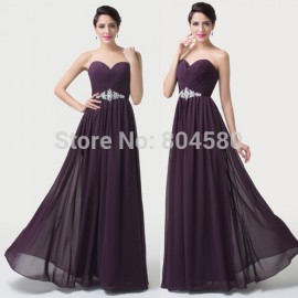 Precious Floor Length A Line Chiffon Women Casual dress Formal Dinner Date Gown Long Evening dresses for Prom Party CL6190