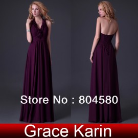 Quality Assurance GK Stock Designer Halter Party Gown Prom Ball Formal Evening Dress 8 Size CL3435