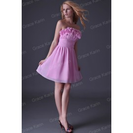 Quality Assurance Grace Karin Sexy Strapless Flower Party Prom Ball Pink Cocktail Dress  CL34698 Size via  CL3469