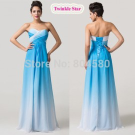 Red Blue Green Off the Shoulder Plus size Women Floor Length A Line Party Gown Long Evening dresses Chiffon Prom dress CL6173