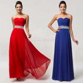 Red Carpet Design Floor length Women Long Evening Dress 2015 Chiffon Formal Dresses Summer Beach Celebrity Party Prom Gown D7568