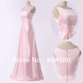 Retail/Wholesale Hot Selling Sexy Beautiful High Waist Pink Long Wedding Bridemaid Dresses  Brides Maid Dresses CL3438