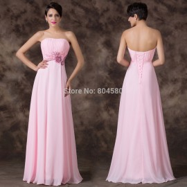 Special Occasion Empire Applique Strapless Runway Red Carpet dresses Formal Party Gowns Sexy Evening dress Prom Long Ball CL6193