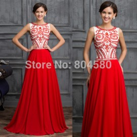 Trending Style 2015 Red Carpet dress Beading A Line Evening Dresses Long Formal Party Clothing Women Prom Gown Floor Length 7531