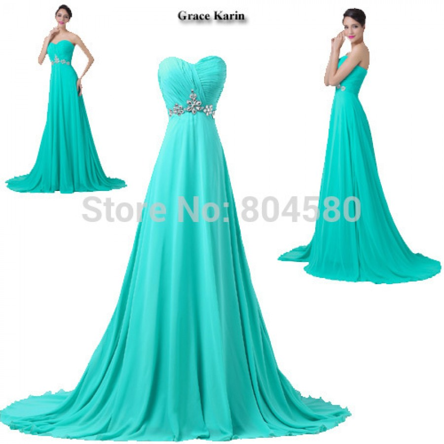 ab7a12170417 Turquoise ColorGrace Karin Hot Sale Women Chiffon Red Carpet Dresses Off  Shoulder Formal Occasion Evening dress CL6290