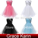 Short Women Strapless Women Prom gown Blue White Pink Black Cocktail Party Dresses CL4503