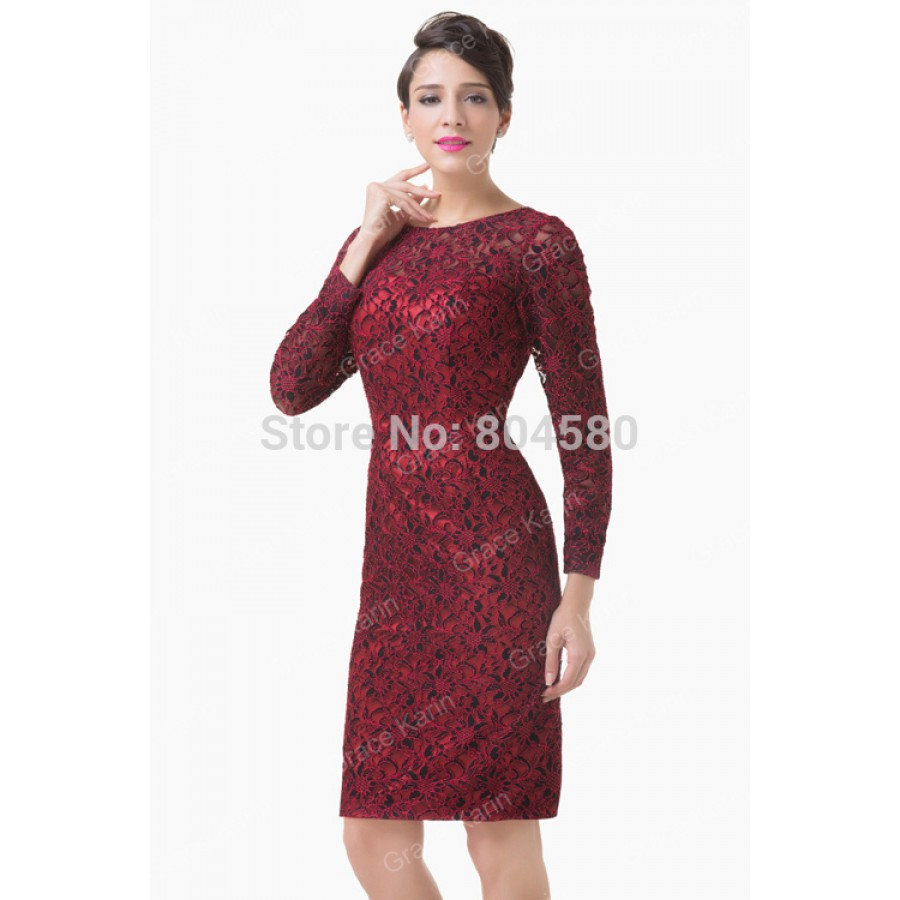 Women Sexy Designer Long Sleeve Mother of the Bride dress ...