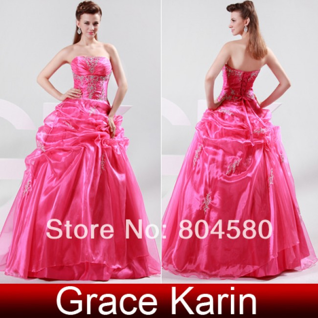2015 Hot Selling Strapless Voile Ball Gown Wedding dresses Bride Dresses\Gown CL4482