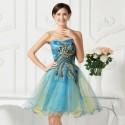 5 Colors Knee Length Corset Cheap Bridesmaid Dresses Short Brides Maid Wedding Party Dress Appliques Formal Ball Gowns 7541