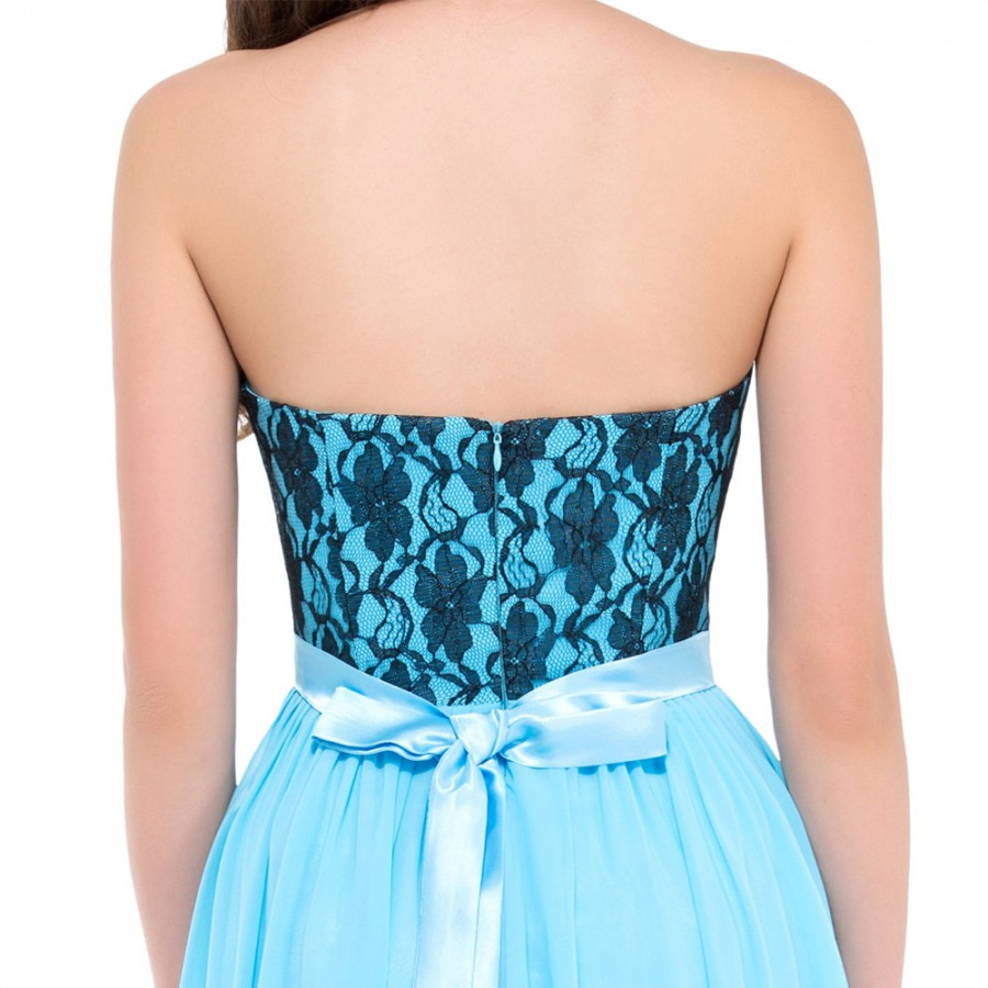 709f71db1731 Cheap Floor length Corset Appliques Blue Long Bridesmaid Dress Party  Wedding Guest Dresses Formal Sleeveless Empire Waist GK003