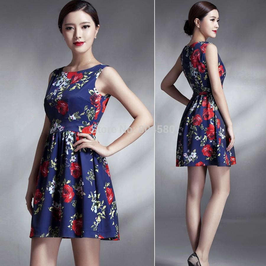 Elegant Women Summer Casual Plus Size 50s 60s Short ...