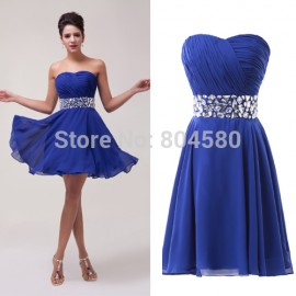 Elegant designsexy Strapless Women Chiffon Prom Dresses Short Evening Gown Formal Party Dress CL4792