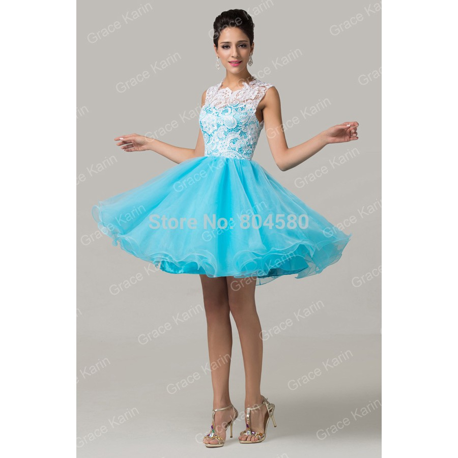 Fashion ChristmasGrace Karin Sleeveless Lace & Tulle Graduation Prom ...