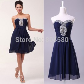 Fashion style New Short Women Formal Prom Dress Chiffon Cocktail Party Dresses Ball Homecoming Gown CL6035