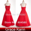 Grace Karin Red Spaghetti Strap Flower Girl Dress Princess Bridesmaid Wedding Party Dresses Frozen Gown CL4521
