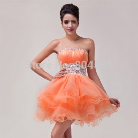 Off-Shoulder Formal Party Gown Short Homecoming Dress Mini Prom Cocktail Dresses  CL4793