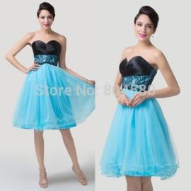 Grace Karin Knee length Women Summer Dress Strapless Short cocktail dresses  Formal party Gown Ball CL6250