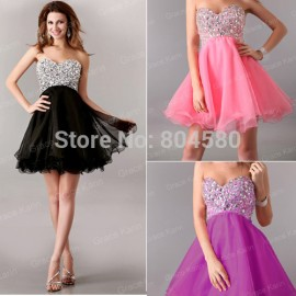 Grace karin Women Graceful Vintage Sleeveless Strapless Mini Prom Party Gown Cocktail Dress  CL4105