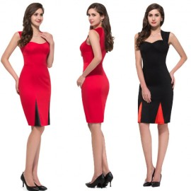 Grace Karin Short Sleeve Red Black Cocktail dresses Short Bandage Party Vintage Dress for Wedding Guest Prom Gowns 50s 60s 4591