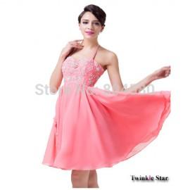 Hot Sale   Fashion Formal Dress Women Clothing Uniform Prom Dresses Knee Length Short Evening party Gown CL6253