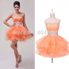 Design Sexy Short Voile Ball Gown Cocktail Party Dress Prom Formal dresses Graduation  CL4793